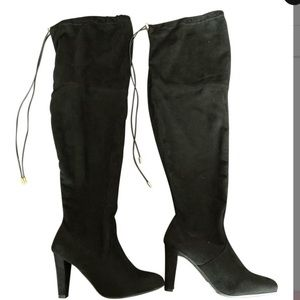 Over the knee Boots Lane Bryant Black Sz 8 W suede